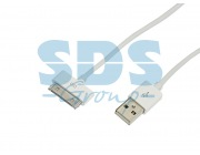 REXANT USB кабель для iPhone 4/4S 30 pin шнур 1 м белый REXANT